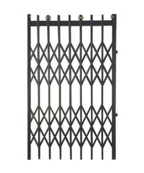 Black Mild Steel MS Collapsible Gates, For Home