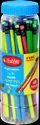 Black 5 Color Neon Hb Rubber Tip Pencil, For Writing, Packaging Size: 100 Piece