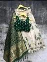 Banarasi Lehengha With Full Stitch Blouse