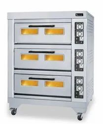SS Three Deck Gas Oven