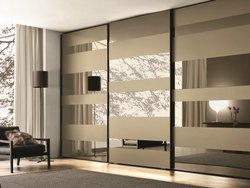 Cutomized Interior Sliding Glass Door For Wardrobe, For Home