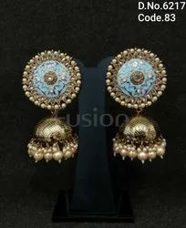 Antique Meenakari Jhumkas