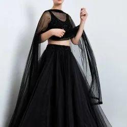 Black Designer Lehenga