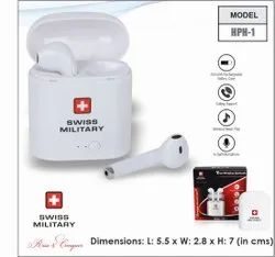Swiss Military Wireless Earbud White (HPH1)