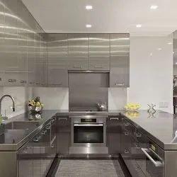 Modern U Shape acrylic Modular Kitchen