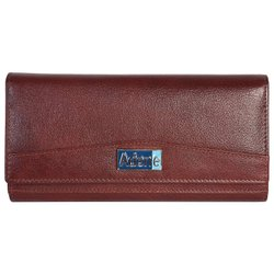 Genuine Leather Maroon Wallet For Women And Girls