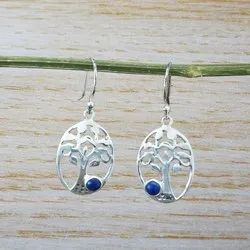 Lapis Lazuli Gemstone 925 Sterling Silver Jewelry Royal Earring