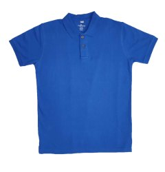 Cotton Plain Mens Blue Collar T Shirt