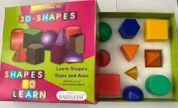 Educational toy Pp Plastic 3D Shapes, Child Age Group: 0-10