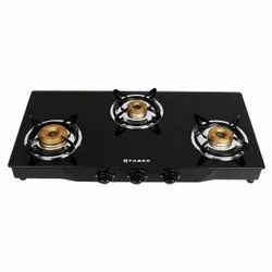 Brass Faber Hob Cooktop Jumbo 3BB SS, For Gas Stove, Size: 770 X 380 X 55 Mm
