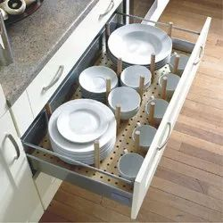 Plate Holder with Rod Kitchen Drawer