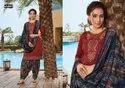 Kajree Jam Silk Embroidered Patiala Suit
