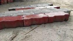 Cement Concrete Gray Interlocking Paver Block, For Flooring, Thickness: 60 mm