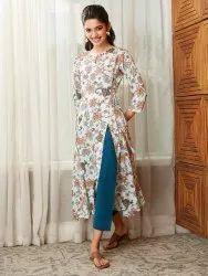 Janasya Women's Multicolor Rayon Kurta(J0169)