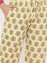 Jaipur Kurti Women Magenta Ethnic Print Cotton Night Suit