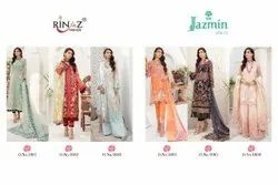 Designer Butterfly Net Embroidered Pakistani Suit