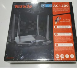 TENDA Black AC10 / Router / AC1200 Smart Dual-Band Gigabit WiFi Router