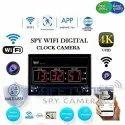 Safetynet Spy 4K Wifi Digital Wall Clock Audio Video Recording Watch Surveillance Security Camera