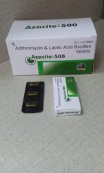 Azacite-500 Azithromycin and Lactic Acid Bacillus 500mg Tablet