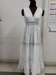 White Women Ladies Fancy Dress, For party