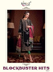 Rinaz Fashion Block Buster Vol 5 Georgette With Embroidery Work Pakistani Salwar Suit Catalog