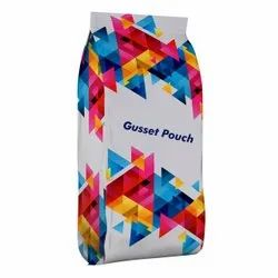 White PET and LDPE 300 X 450mm Printed Gusset Pouch