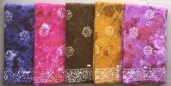 Cotton 44 Batik Tie Dye Fabric, For Garments, 125