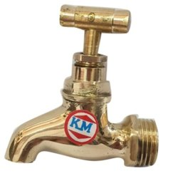 KM Golden 125 Gm Brass Water Tap, For Bathroom Fitting, Size: 15 Mm