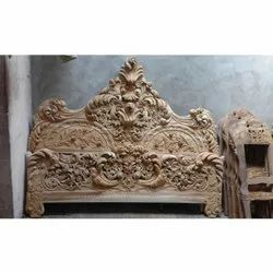 Antique King Size Wooden Bed