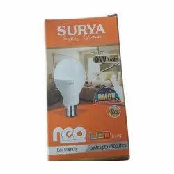 Ceramic Round Surya 9W LED Bulb