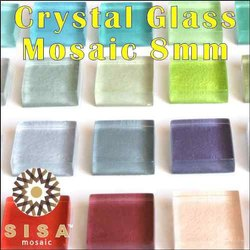 Wall Cladding Glass Mosaic Tiles, Thickness: 8 mm