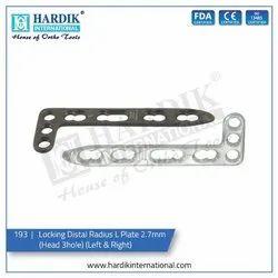 Locking Distal Radius L Plate 2.7mm (Head 3Hole)