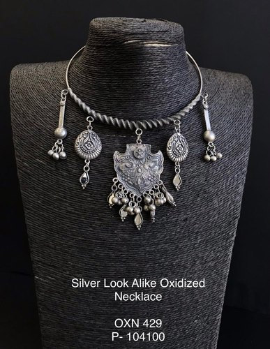 Silver Look Oxidized Hasli