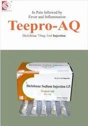 Diclofenac Sodium 75mg/1ml (Aqueous Base )  INJECTION