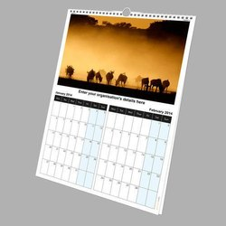 Multi Colour Art Paper Wall Calendar Printing Service, Dimension / Size: 12*18 Inches