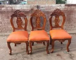 Brown Wooden Dining Chair, Set Size: Set of 6, Size: 2.5 Feet (height)
