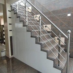 Stainless Steel Polished Stair Railings, For Home