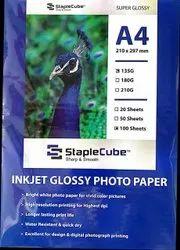 Kodak High Gloss Inkjet Photo Paper 135gsm, Size: A4, 100sheets