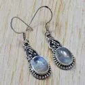 925 Sterling Silver Royal Jewelry Rainbow Moonstone New Earring SJWE-10