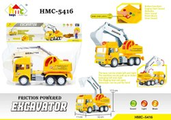 Abs Plastic HMC-5416 Friction Powered Excavator Construction Truck Toy, Child Age Group: 1 To 5 Years