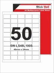 A4 LABEL SHEET LS50L ( 49mm X 25mm ) STICKWELL