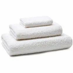 COLMA Cotton Bath White Hotel Towels, 550-650 GSM, Size: 75*150CM