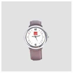 Women Round ZAX-153 Leather Men Wrist Watch, For Daily