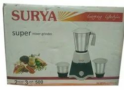Surya Super Mixer Grinder, For Wet & Dry Grinding, 500 W