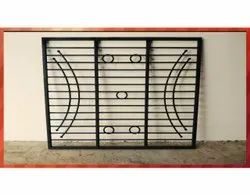 Interior Powder Coated Wrought Iron Window Grill, For Residential, Rectangular