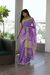DAZZELING Party wear Linen Saree, 6.3 m (with blouse piece)