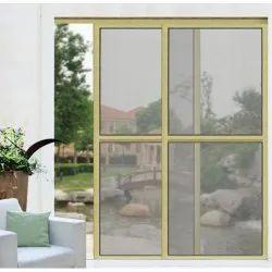 Aluminum (Frame) Off White SM-007 Sliding Mesh Doors, For Home, Exterior