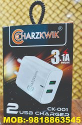 Plastic White Mobile USB Charger Adaptor, Model Name/Number: 5445