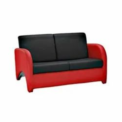 Modern Red,Black 2 Seater Leather Office Sofa, For Lounge