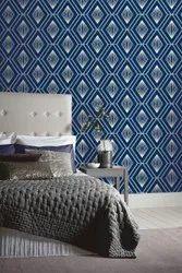Blue Royal Pattern Texture Wallpaper